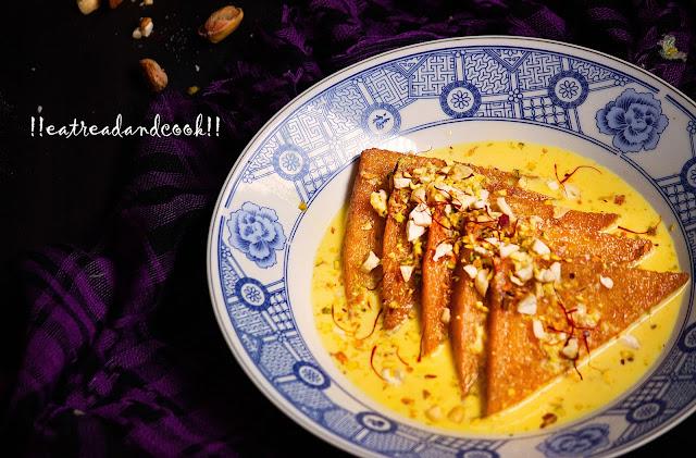 double ka meetha recipe hyderabadi sweet recipe