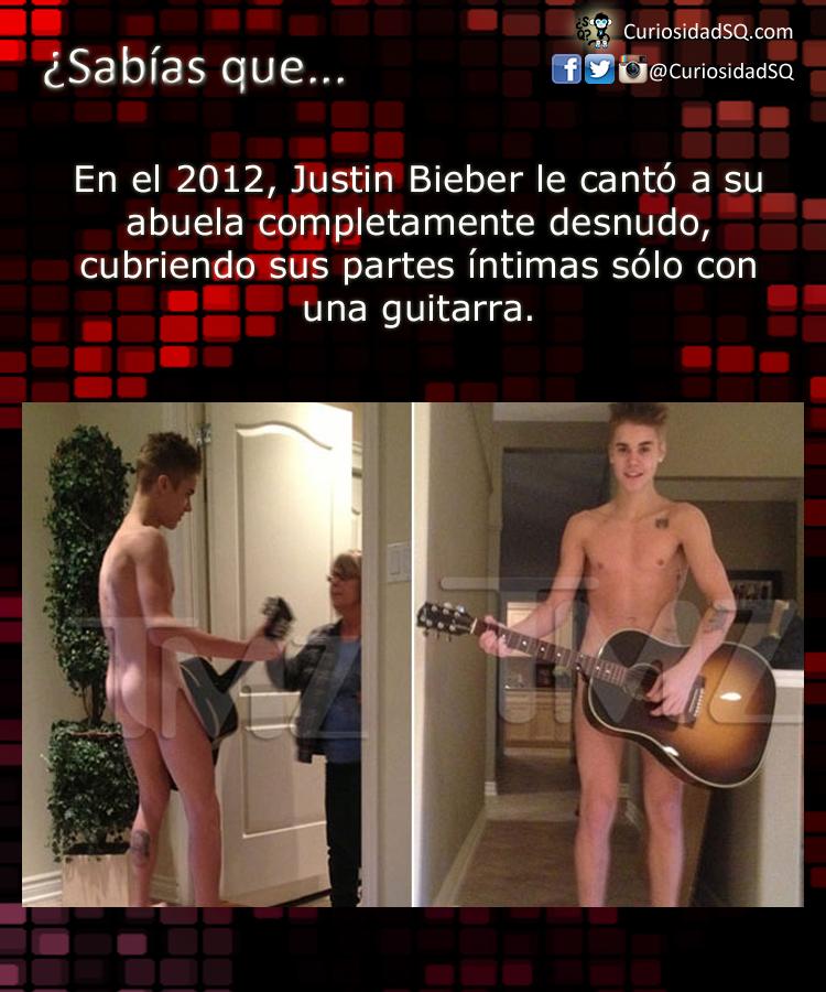 Justin Bieber Cant Desnudo Frente A Su Abuela Y Cubri Sus Partes