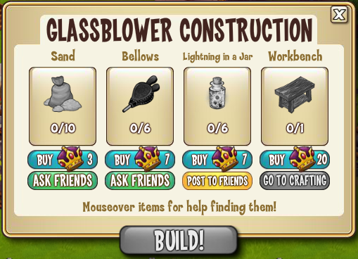 Glass Blower Construction Materials