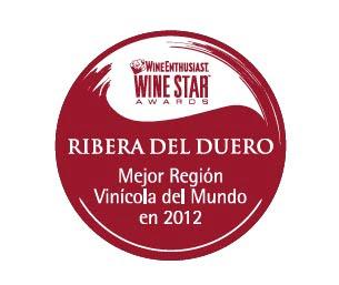 Logo Ribera del Duero Mejor Región Vinícola del Mundo en 2012. Blog Esteban Capdevila