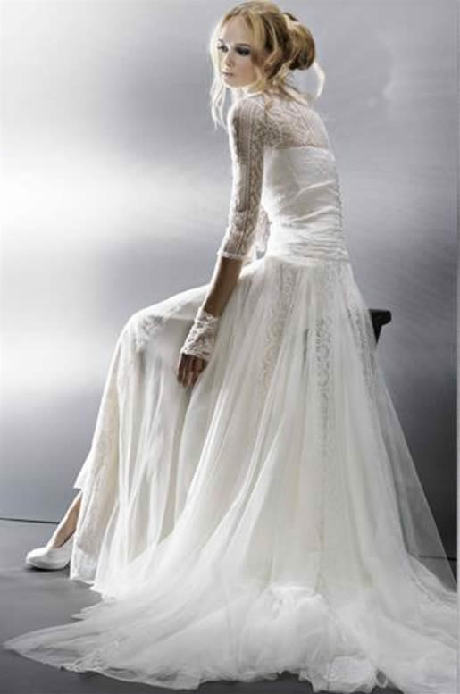 Wedding fashion romantic wedding gown design for Romantic vintage lace wedding dresses