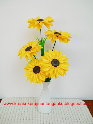 ... bunga matahari dengan cara menjahitnya seperti bunga teratai bunganya