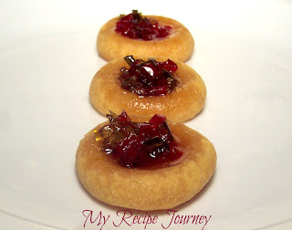 Cheesy Thumbprint Cookies with Hot Pepper Jelly