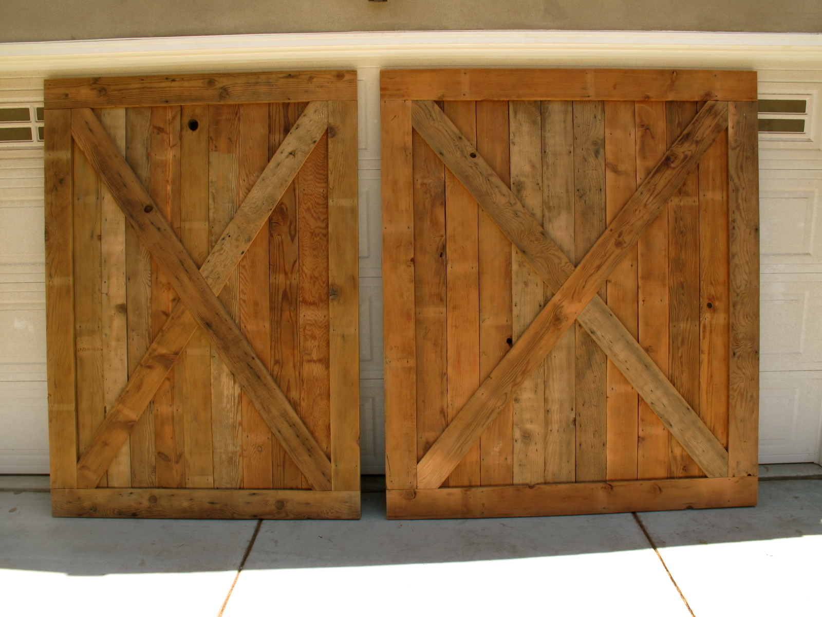 We finished these huge barnwood doors last week for a client in long
