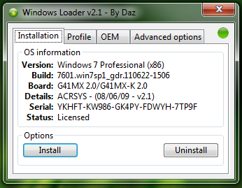 Windows 7 Loader v2.1