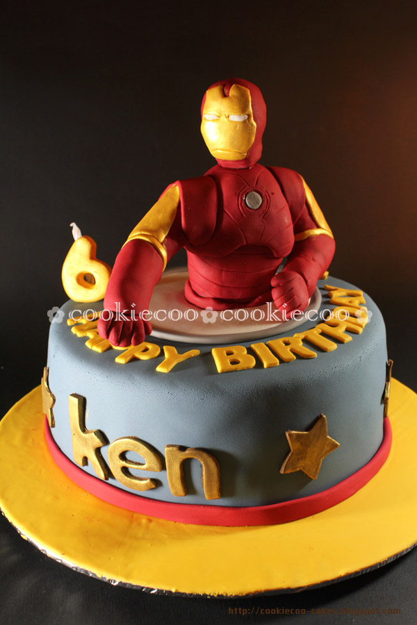 Cookiecoo Iron Man Cake For Ken