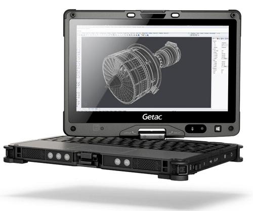 Getac V110-G2, un Tablet PC 2-in-1 convertibile corazzato