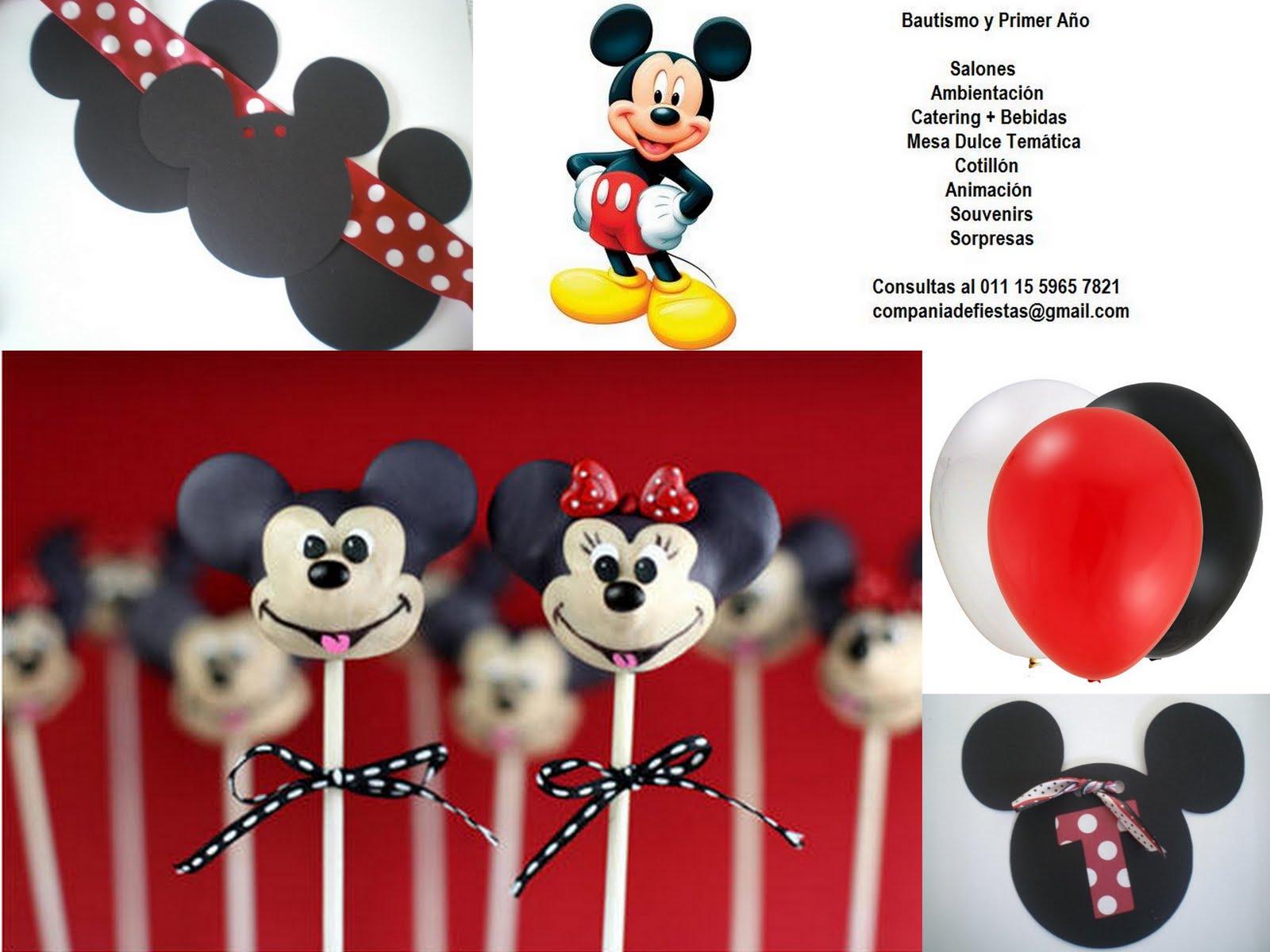 Bautismo Y Primer A  O Con Mickey Y Minnie