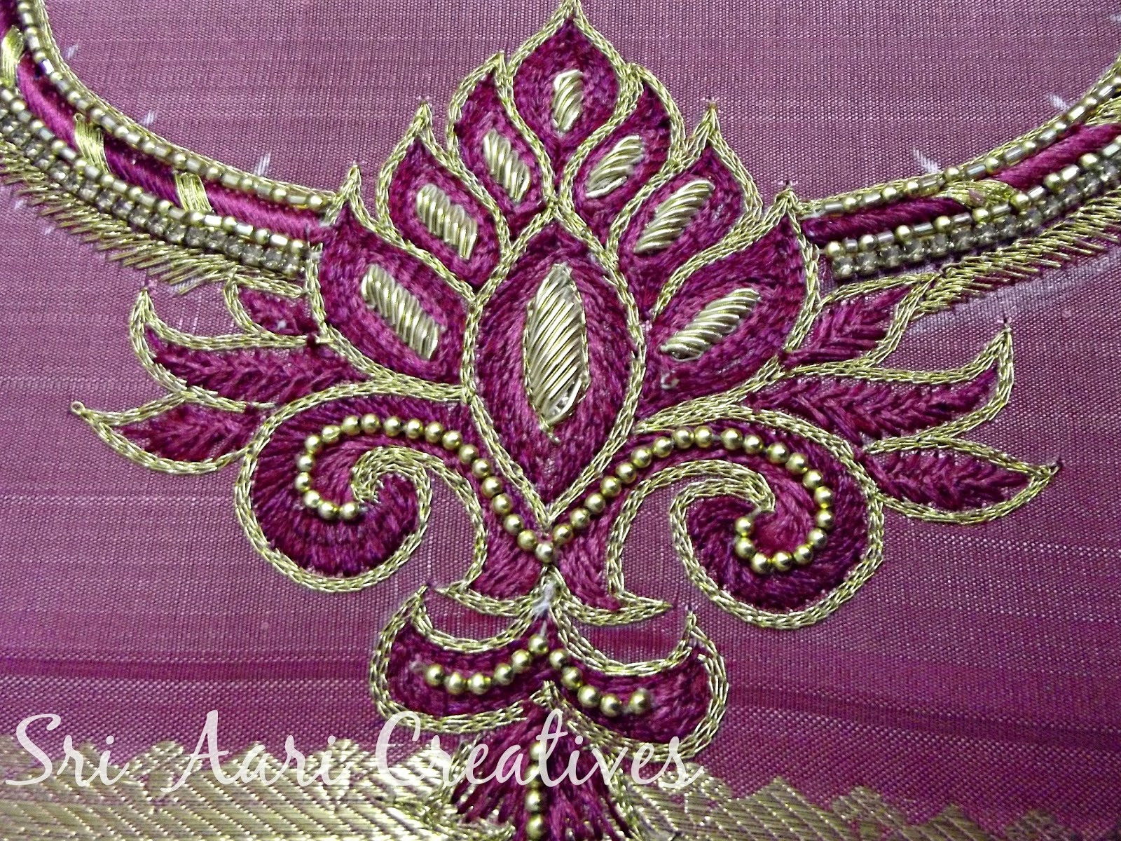 SRI AARI CREATIVES Aari Embroidery  Simple Designs