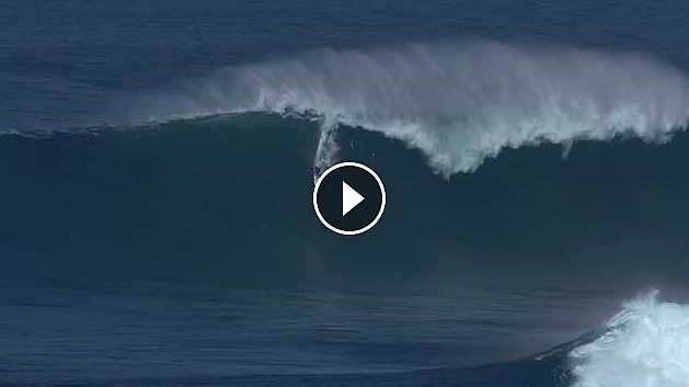 Biggest wave ever paddled at Peahi January 15 2016