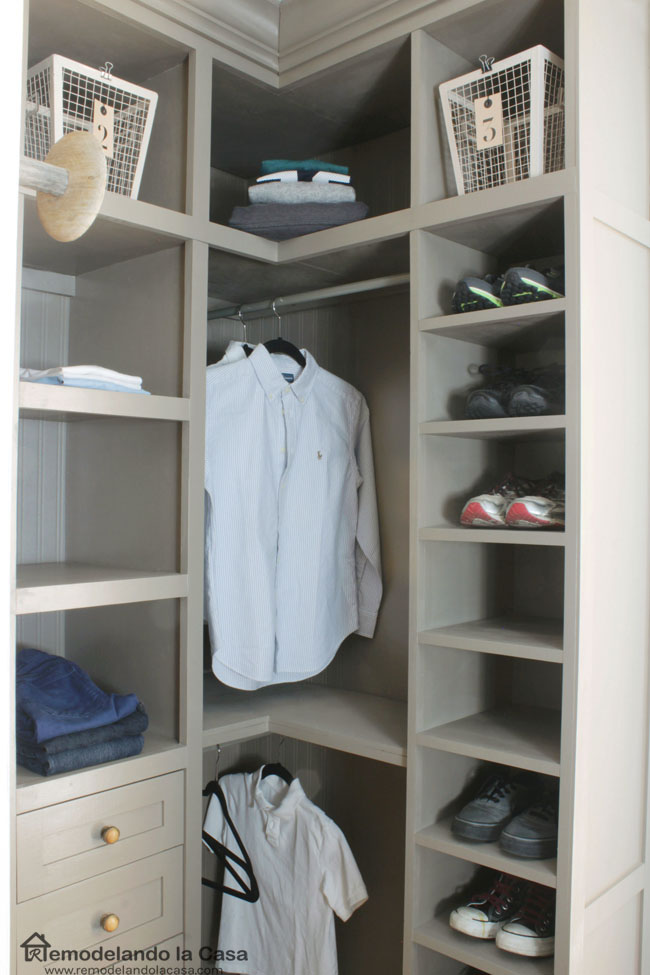 Diy Small Closet Makeover The Reveal Remodelando La Casa
