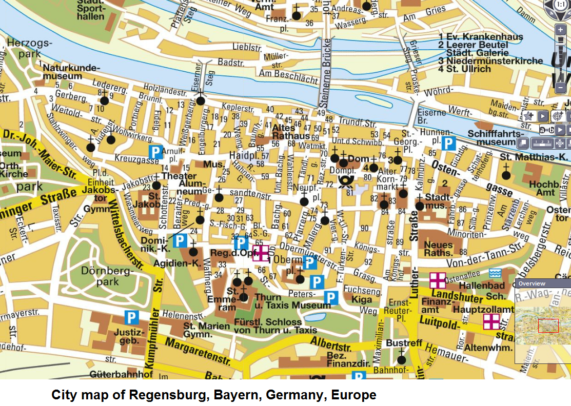 Regensburg Germany Map - Regensburg map
