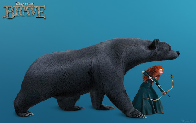 Merida and Bear - Brave
