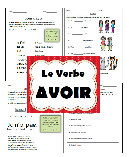 http://www.teacherspayteachers.com/Product/Avoir-au-present-grammar-notes-and-activities-1247495