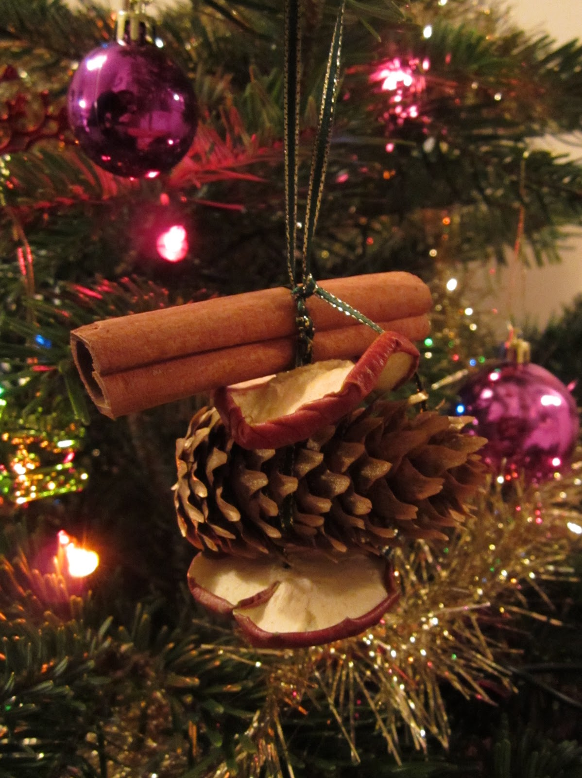 cinnamon dried apple christmas decoration