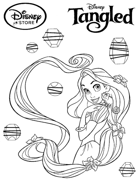 Disney Princess Tangled Coloring Pages