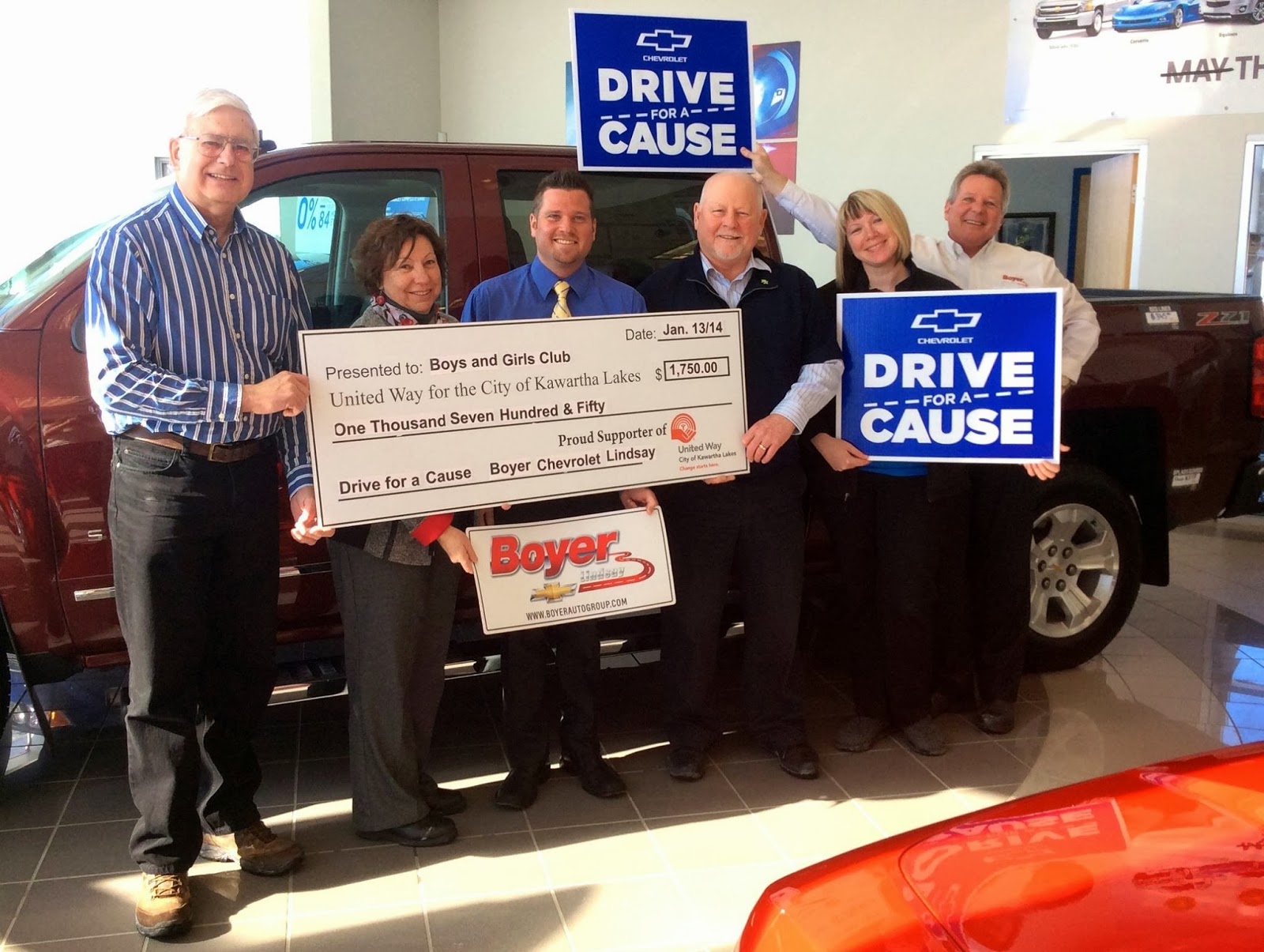 image Kawartha Lakes United Way and Boys and Girls Club receive Drive for the Cause Check