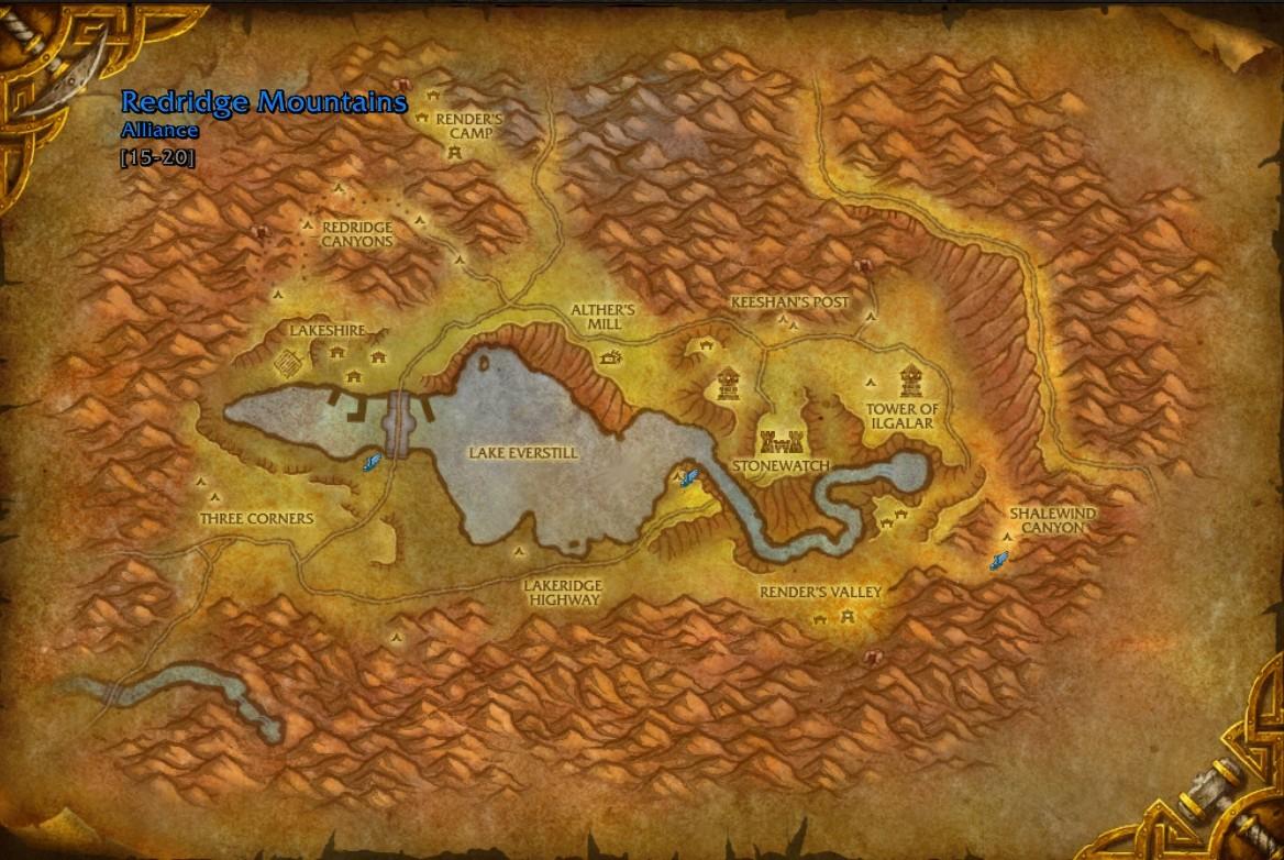 Wow Farmer: Redridge Mountains - Eastern Kingdoms - Wow Map ...
