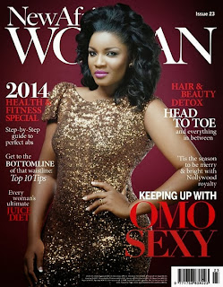 Golden Cover ; Omotola Ekeinde Covers The new African Magazine