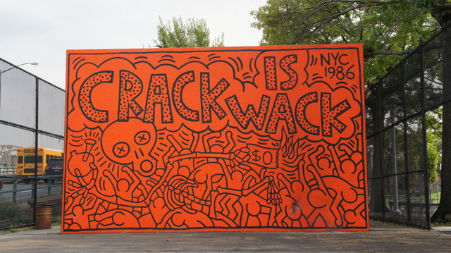 Keith haring crack is wack for Crack is wack mural