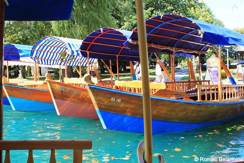 Lake Bled Pletna Boats Slovenia