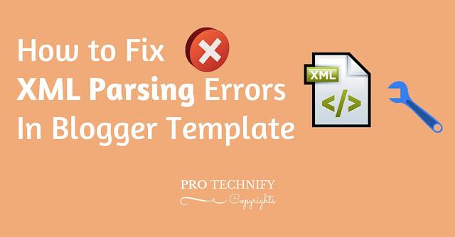 Fix XML parsing errors in blogger template