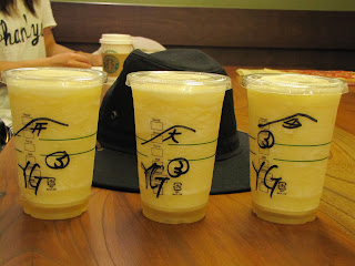 "Our cups feature the kanji for ""gate"", ""big"" and a picture of a ship."