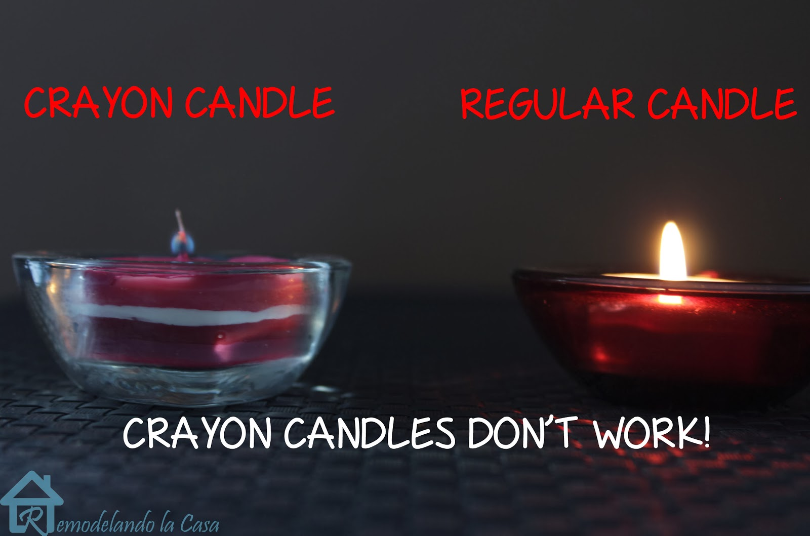 Remodelando la Casa: Crayon Candles. A pretty but not a functional ...