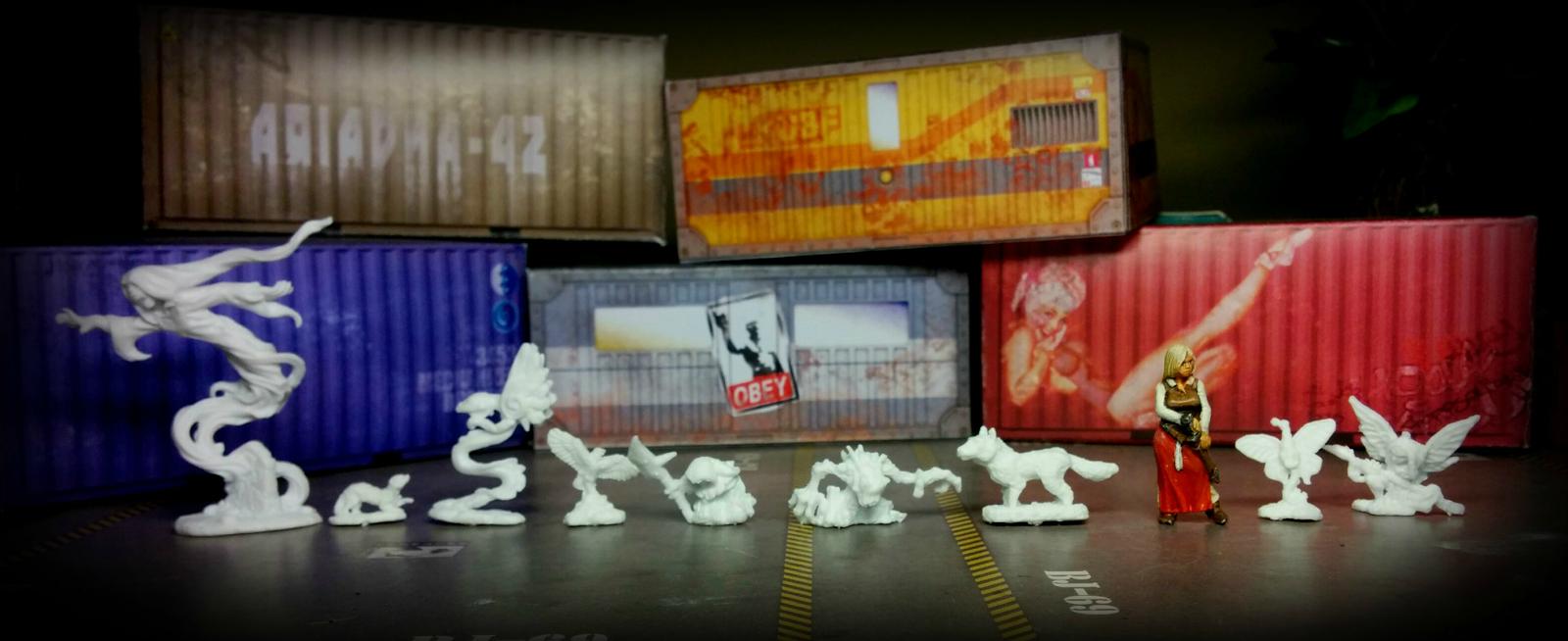 Ghost, Familiars - Reaper Bones, Alicia - Hasslefree Miniatures