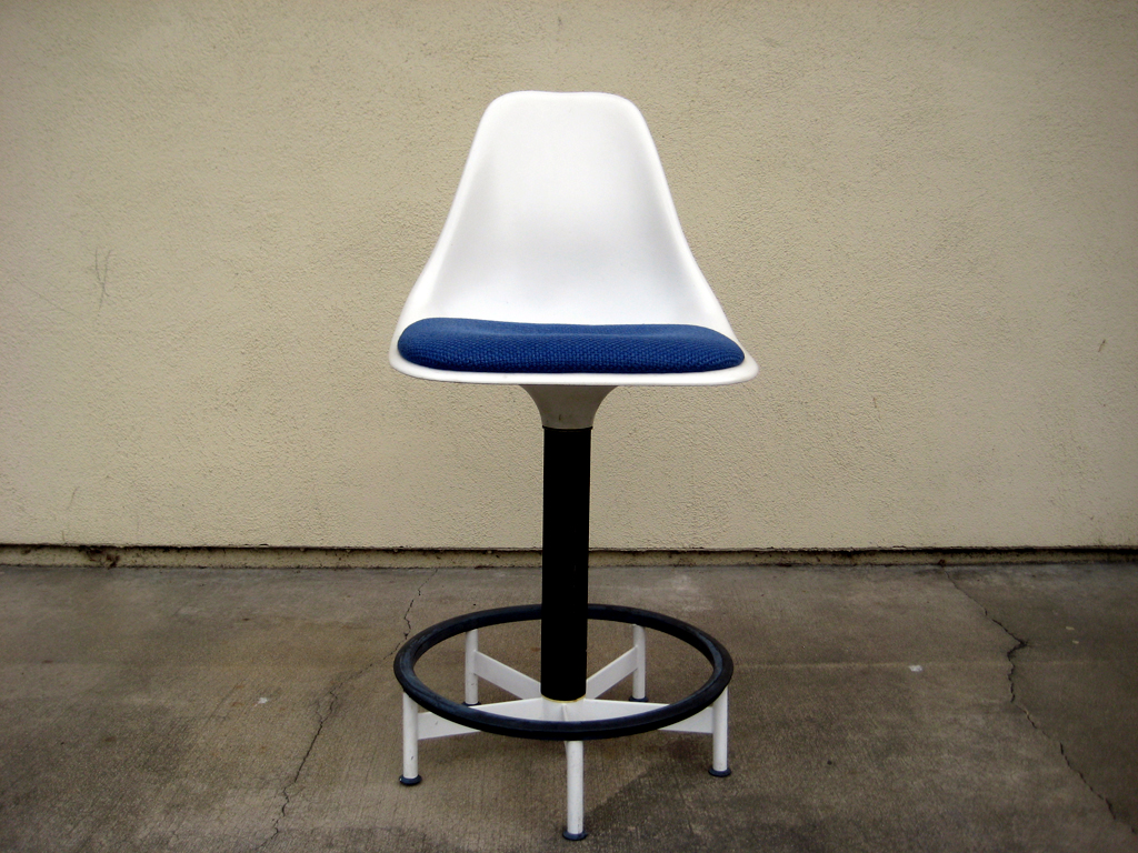 Add A Splash To Your Atomic Drafting Office Or Use As A Spare Bar Stool.  Very Rare, All Original Condition. Fabric Could Use A Light Cleaning.