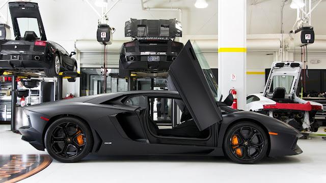 Lamborghini Aventador LP700 4 Black Color HD Wallpaper