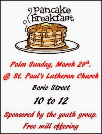 3-29 Pancake Breakfast 10 to Noon