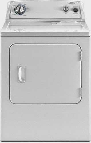 whirlpool 7 cf white front load dryer