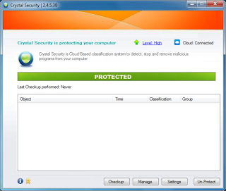 Crystal Security 2.4.5.31 / 3.0.0.60 Beta Software Free Download