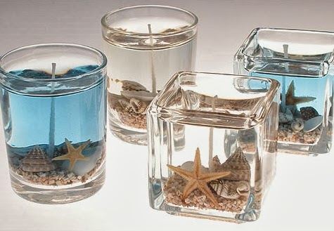 beautiful diy beach gel candles that capture sea and sand completely