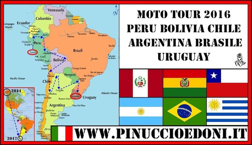 SUD AMERICA Moto Tour 2016 di Pinuccio e Doni