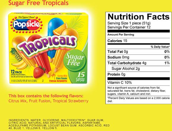 Kalyn S Kitchen Picks Popsicle Tropicals Sugar Free