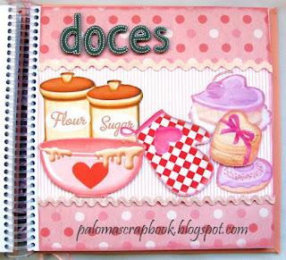 Caderno de receitas personalizado scrapbook