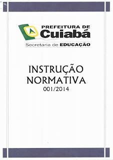 Instrução Normativa 001/2014