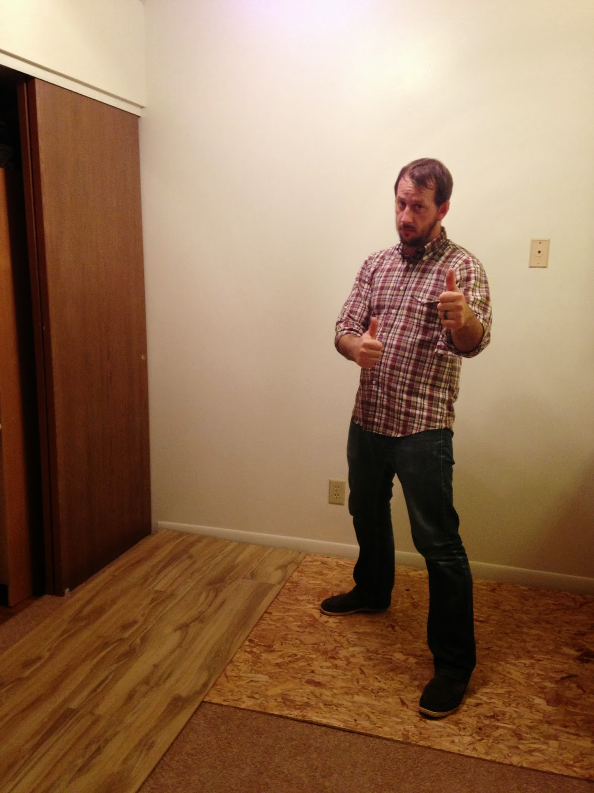 How to install baseboards over carpet - How We Put Hardwood Over Carpet Messymom