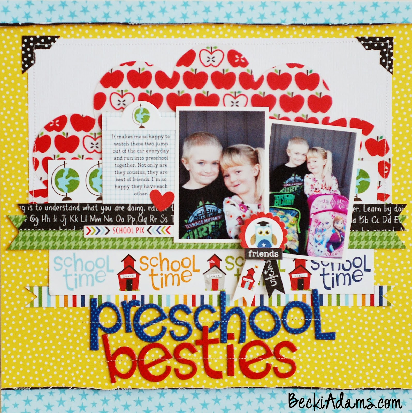 A layout created by @jbckadams featuring Bella Blvds new Star Student Collection #bellablvd #scrapbooking #scrapbook #papercrafting
