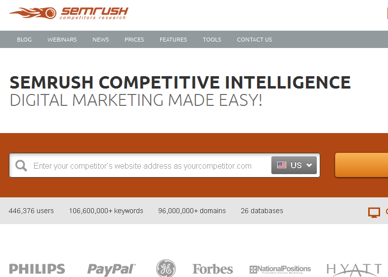 how to use semrush to find competitors keywords