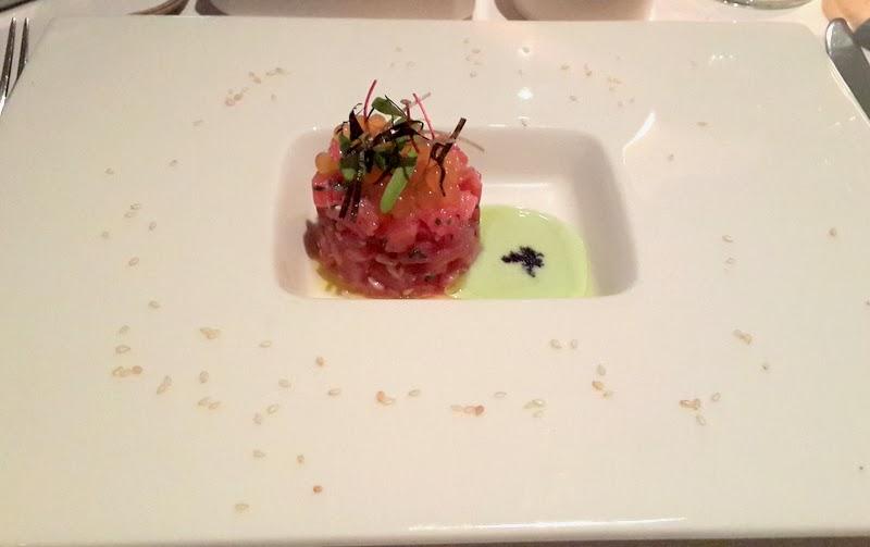 Sashimi Grade Tuna Tartare- Kikkoman soy, gari, toasted sesame ...