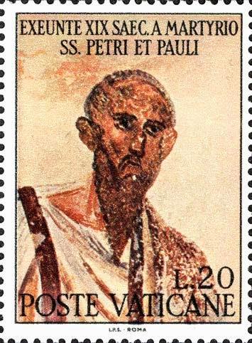Martyrio SS. Pauli, Filatelia Sacra dans immagini sacre VATICANO1967_San+Paolo
