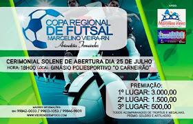 1ª Copa Regional de Futsal !