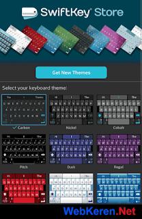 Pengaturan tema Themes Swiftkey Mengetik Cepat Android