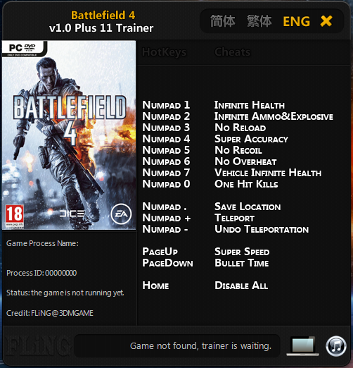 battlefield 4 trainer download