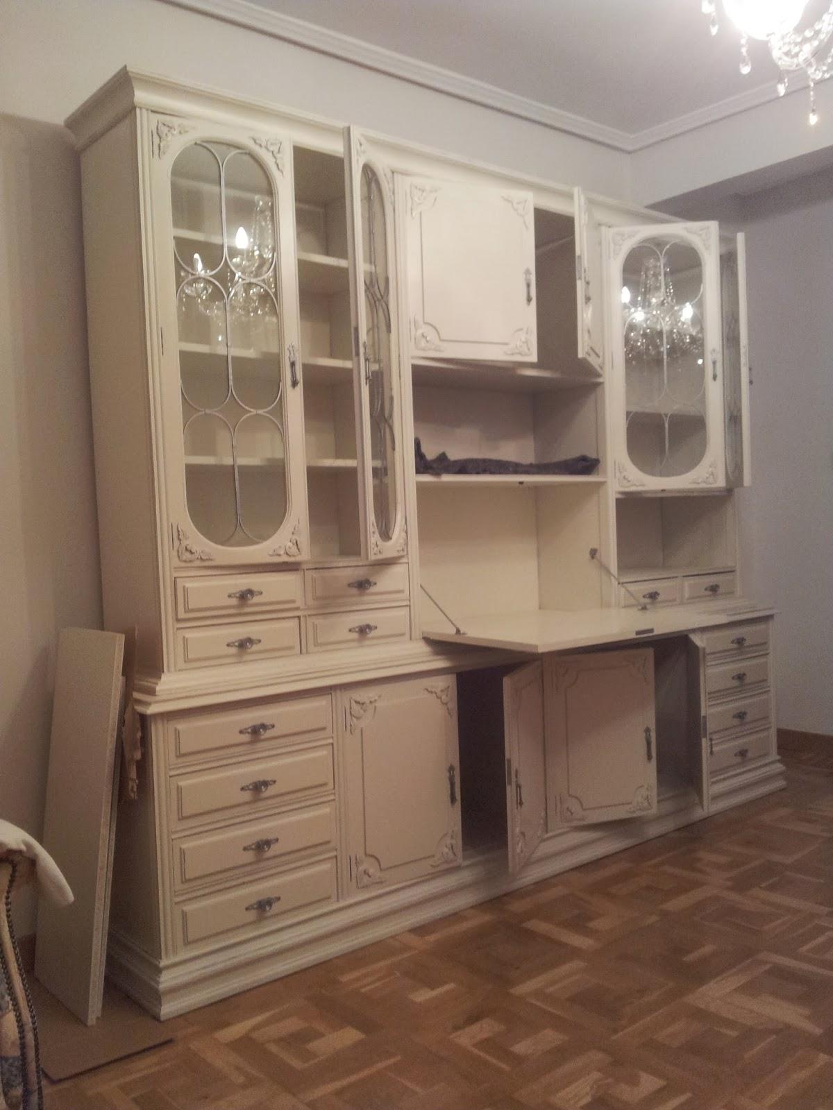 Trabajos lmb muebles antiguos - Muebles de salon en blanco roto ...