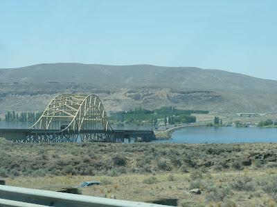 floating bridge over the Columbia