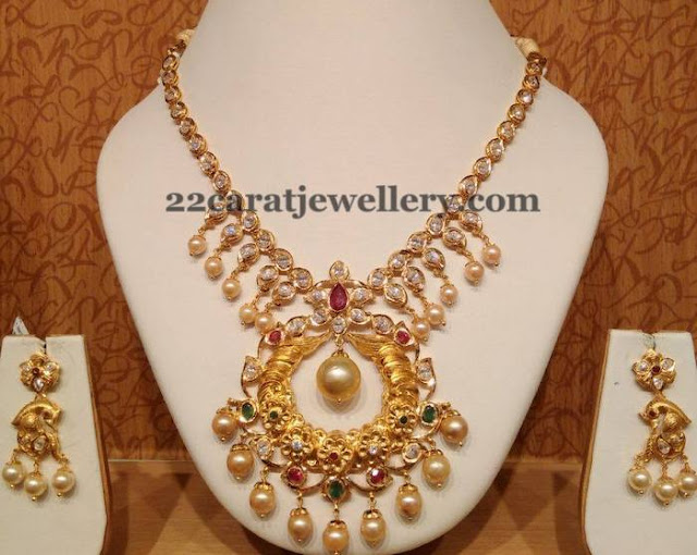 Heritage Chandbali Necklace in CZs